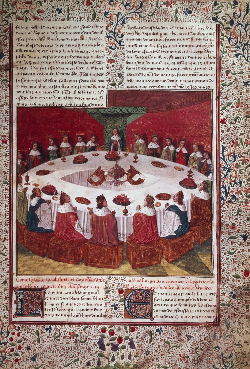 A vision of the Grail, Arthur and the Knights of the Round Table