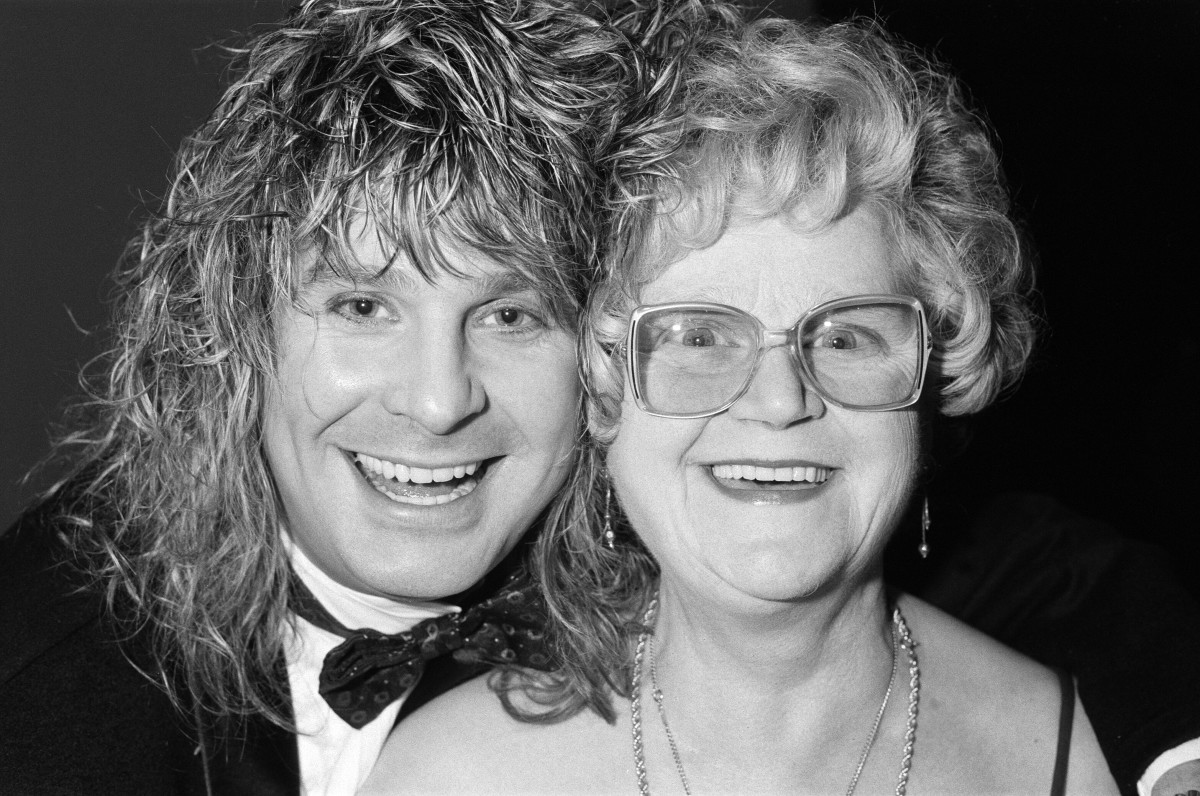 Ozzy Osbourne and his mother, Lillian, in February 1986