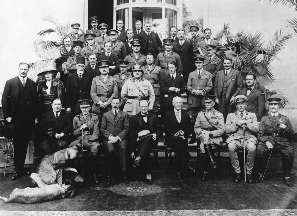 Gertrude Bell at the Cairo Conference, 1921