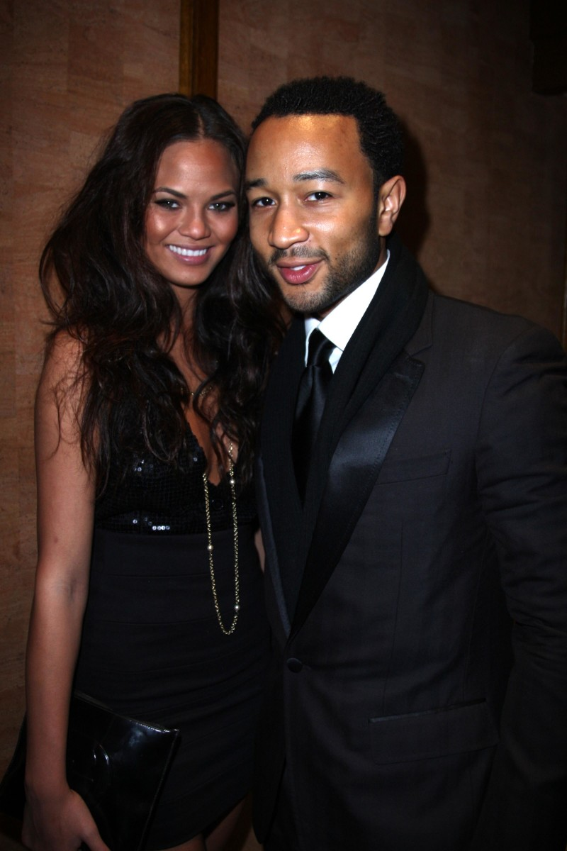 Chrissy Teigen and John Legend attend an Esquire Magazine New Year's Eve party at Cipriani Wall Street in New York City on December 31, 2007