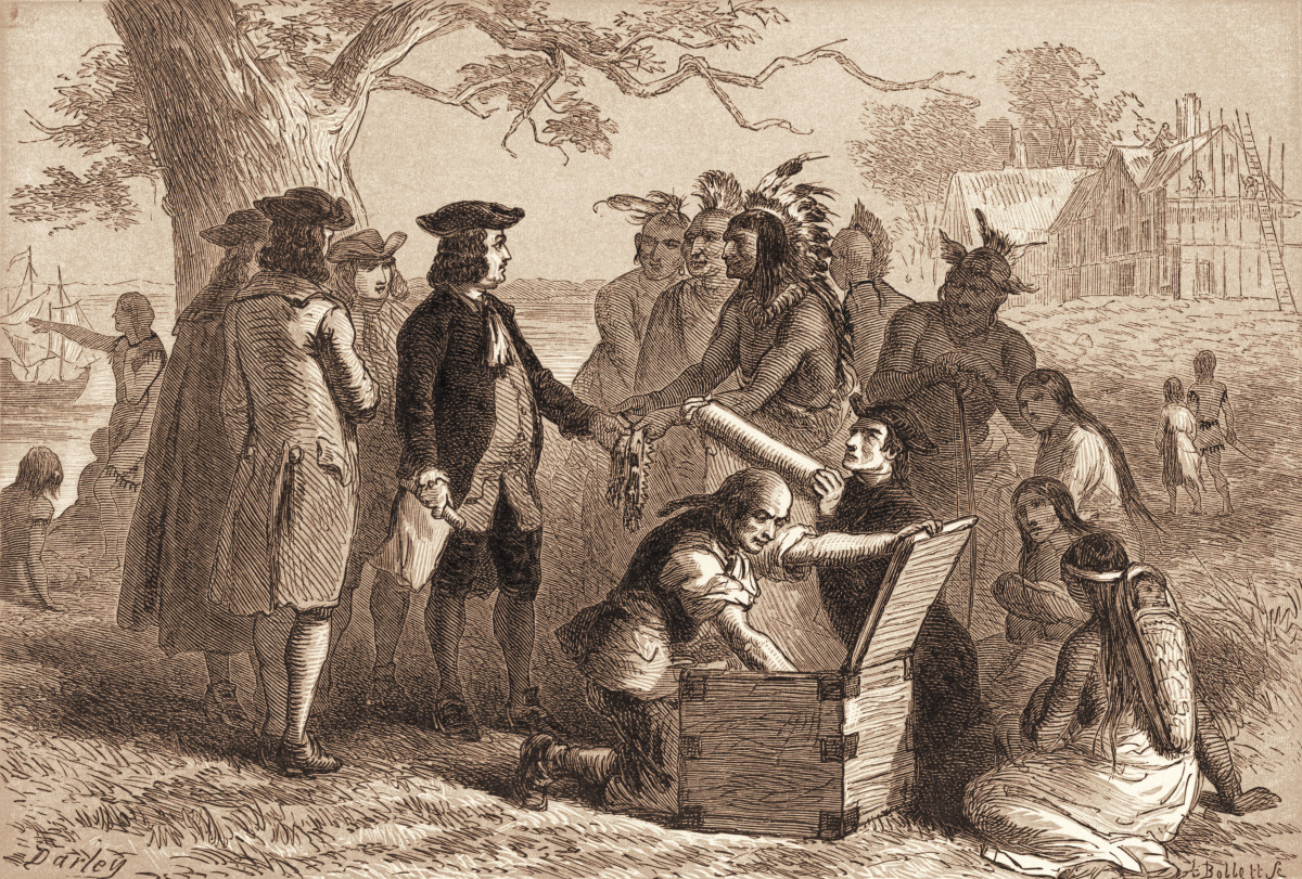 William Penn accepts a belt from Tamanend
