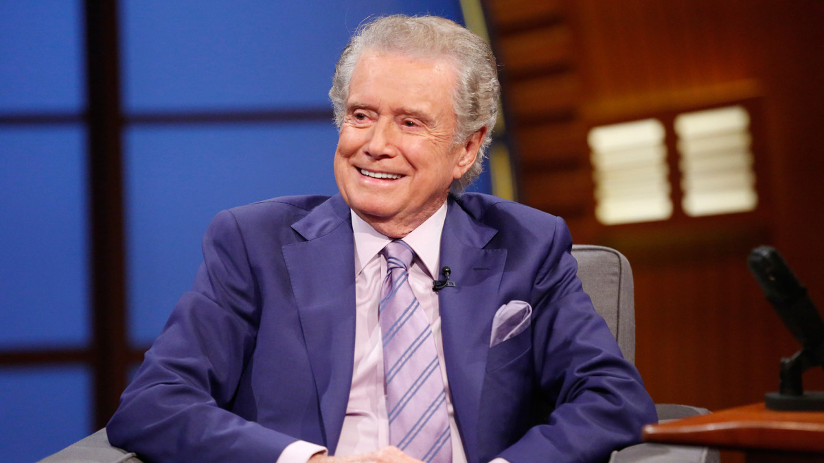 Regis Philbin during an interview on July 16, 2014