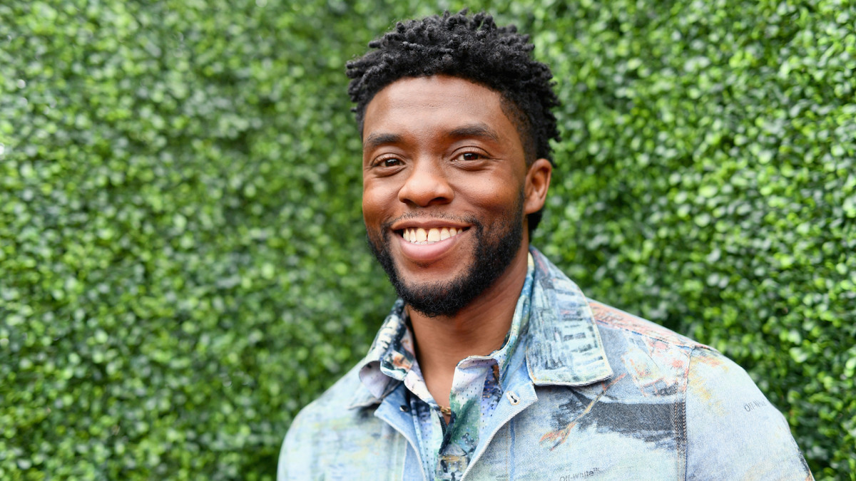 Chadwick Boseman attends the 2018 MTV Movie And TV Awards at Barker Hangar on June 16, 2018, in Santa Monica, California