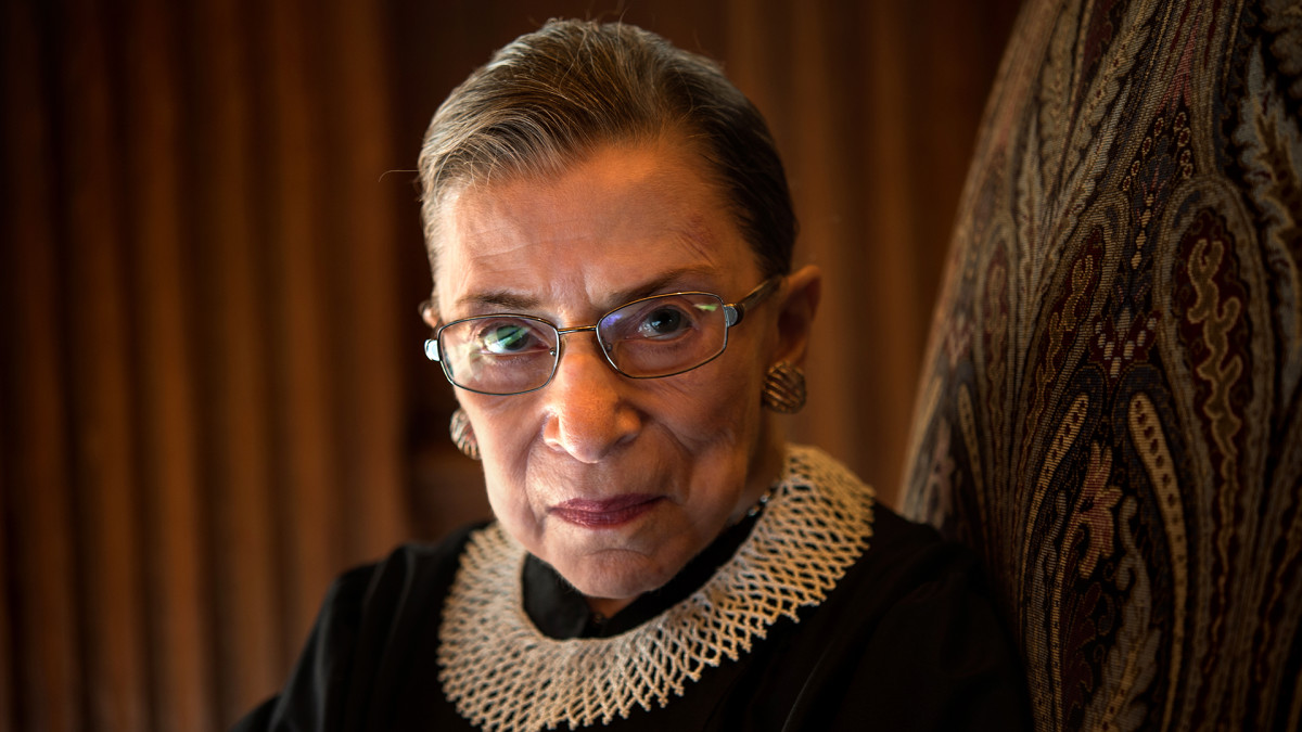 Ruth Bader Ginsburg, celebrating her 20th anniversary on the bench, is photographed in the West conference room at the U.S. Supreme Court in Washington, D.C., on Friday, August 30, 2013.
