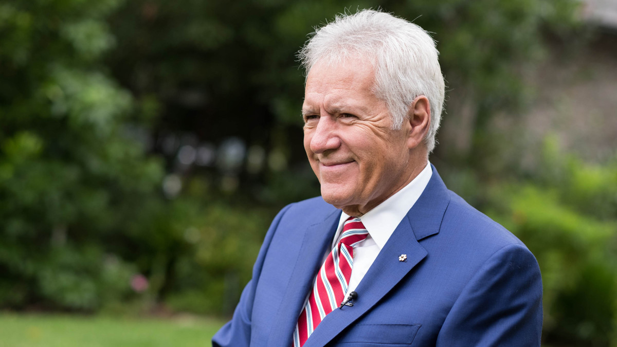 Alex Trebek attends the 150th anniversary of Canada's Confederation at the Official Residence of Canada on June 30, 2017, in Los Angeles, California