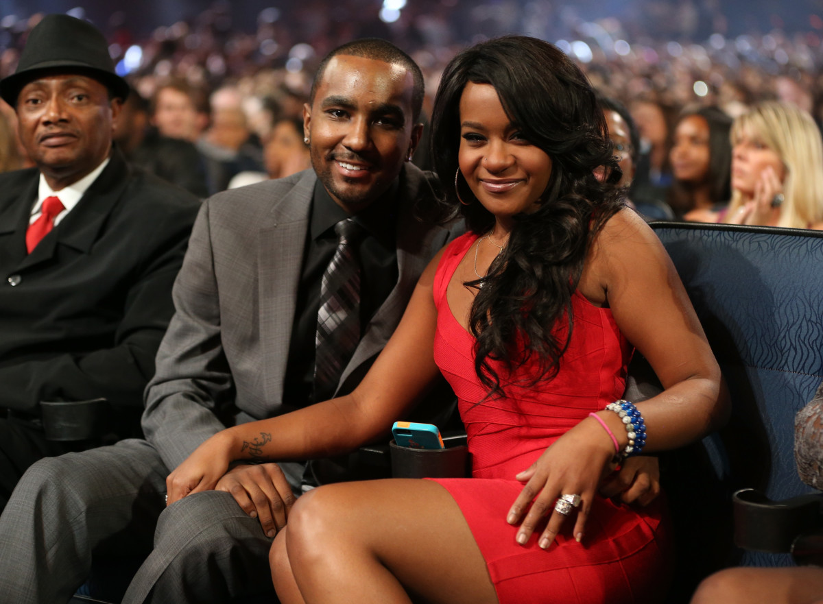"Nick Gordon and Bobbi Kristina Brown attend ""We Will Always Love You: A GRAMMY Salute to Whitney Houston"" at Nokia Theatre L.A. Live on October 11, 2012, in Los Angeles, California."