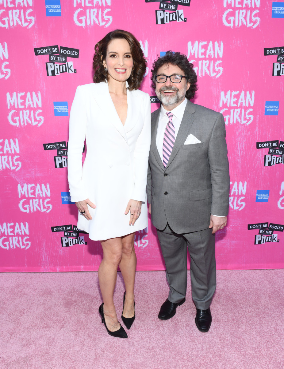 "Tina Fey and husband Jeff Richmond attend the opening night of ""Mean Girls"" on Broadway at August Wilson Theatre on April 8, 2018, in New York City"