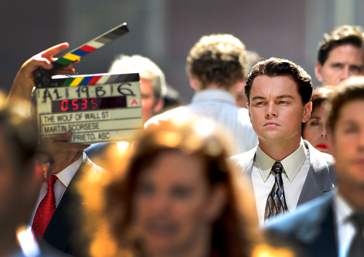 "Leonardo DiCaprio filming on location for ""The Wolf Of Wall Street"" on August 25, 2012, in New York City"