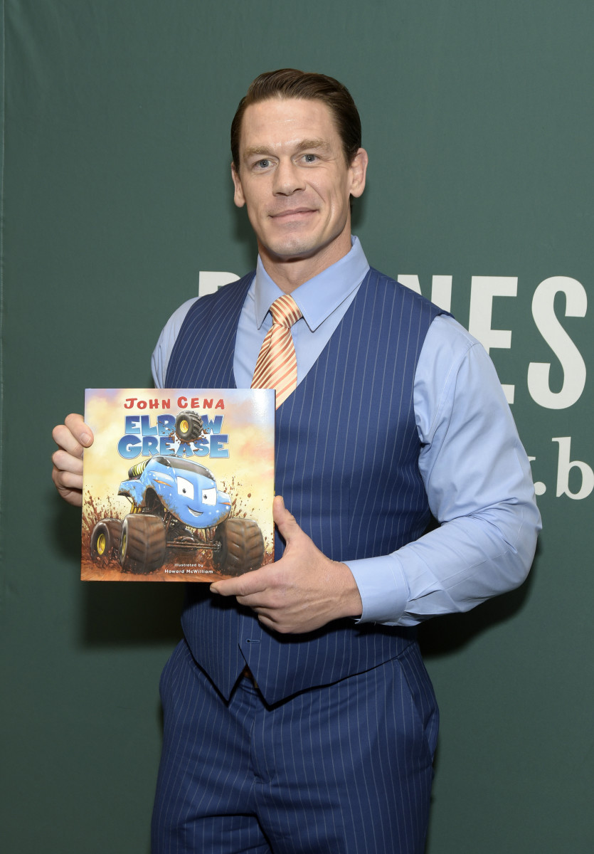 """John Cena attends a signing event for his children's book """"Elbow Grease"""" at Barnes & Noble at The Grove in Los Angeles, California on December 10, 2018"""