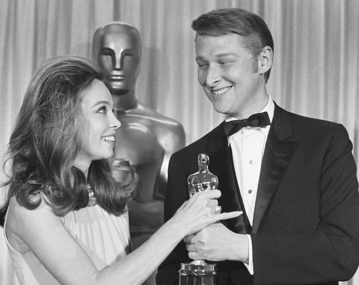 Mike Nichols with an Oscar for Best Director