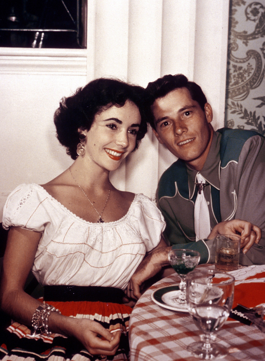 Elizabeth Taylor and first husband Nicky Hilton, 1950