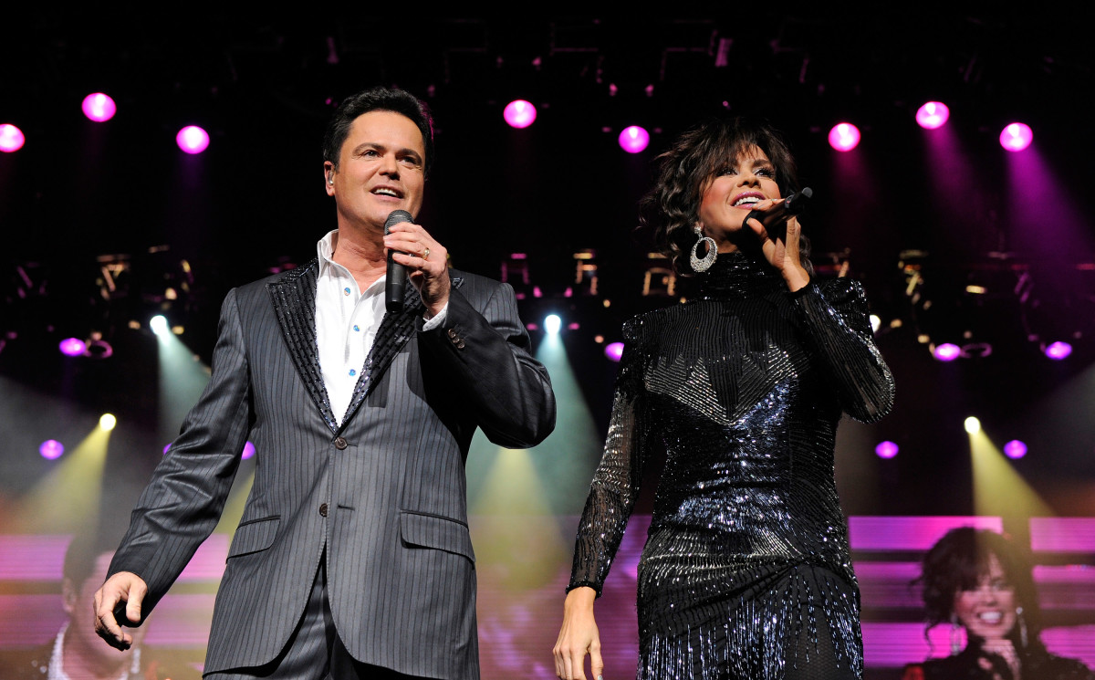 Donny Osmond and Marie Osmond perform at their 500th Donnie & Marie variety show at the Flamingo Las Vegas March 23, 2011 in Las Vegas, Nevada.