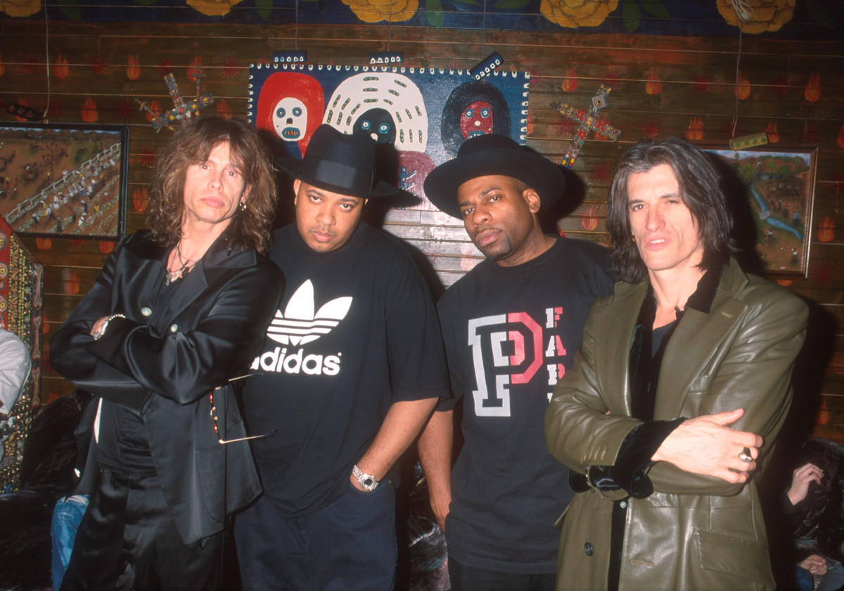 "Steven Tyler, Joseph ""Rev Run"" Simmons, Jason ""Jam Master Jay"" Mizell and Joe Perry"