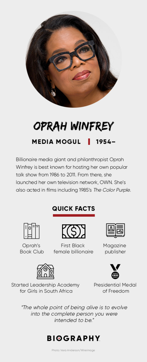 Oprah Winfrey fact card