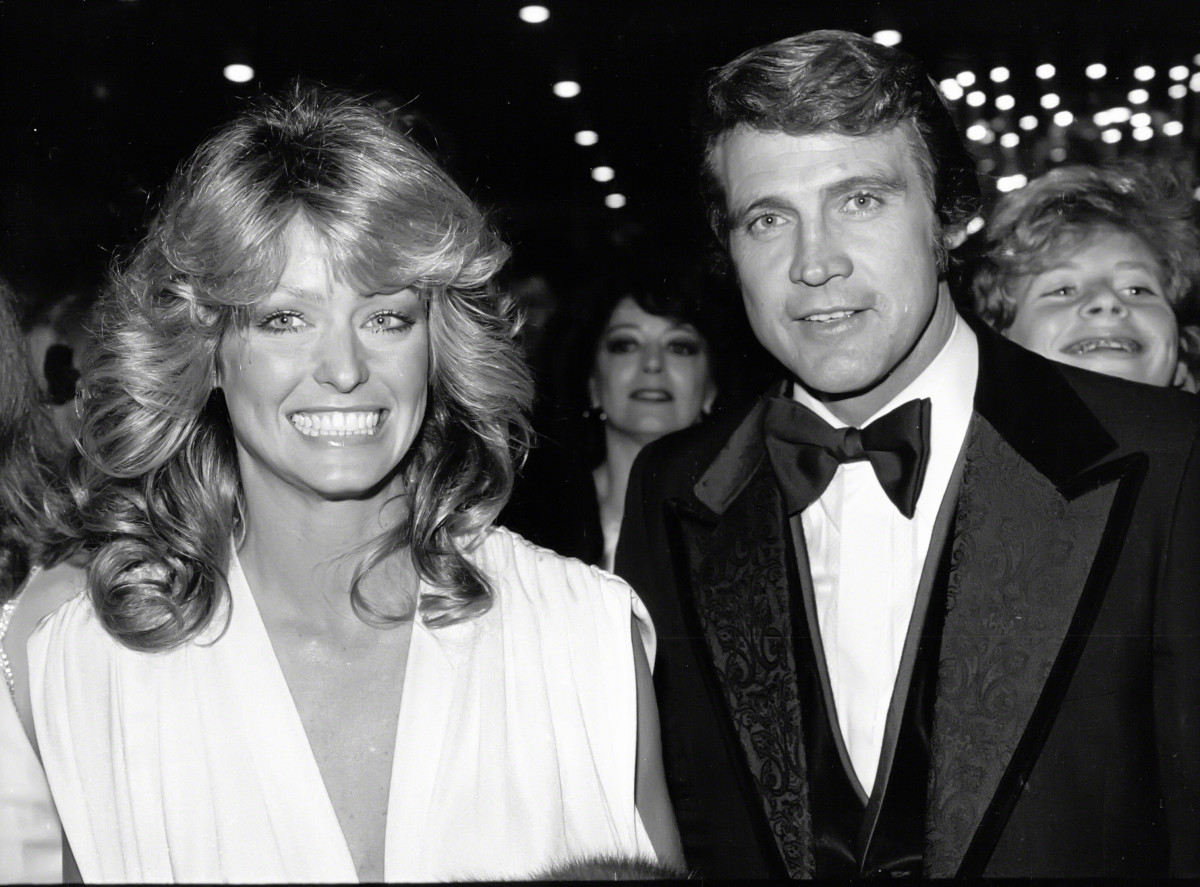 Farrah Fawcett and Lee Majors circa 1978