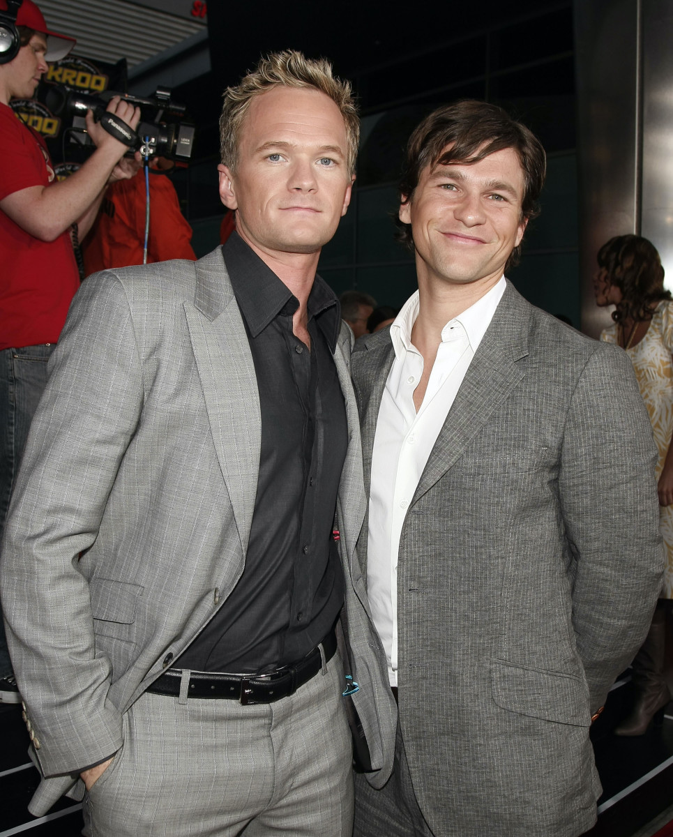 """Neil Patrick Harris and David Burtka at the premiere of """"Harold & Kumar Escape From Guantanamo Bay"""" at the Cinerama Dome on April 17, 2008, in Los Angeles, California"""